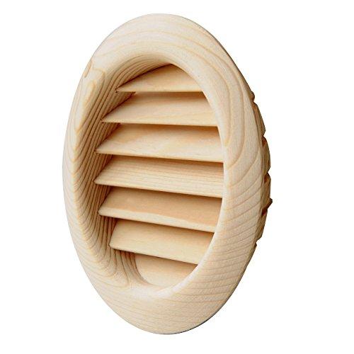 La Ventilazione LGRS100P Lüftungsgitter aus Holz, rund, zum...