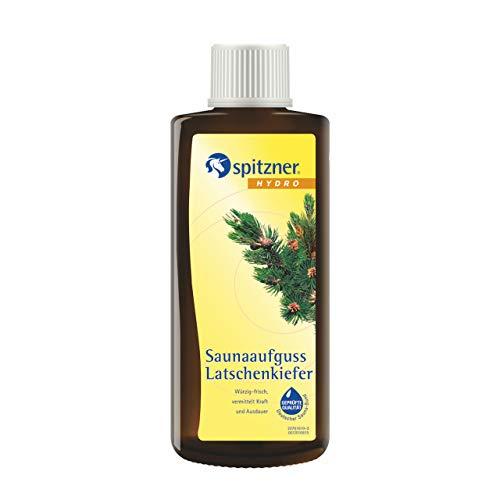 Spitzner Sauna-Aufguss Klassik Latschenkiefer (190ml) Konzentrat - mit natürlichen Inhaltsstoffen. Wohltüend bei Erkältungen, befreit die Atemwege und schenkt Kraft und...