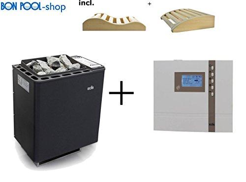 Saunaofen Bi-O-Thermat 7,5kW incl. Steuergeraet und 2 Kopfkeile BONPOOL