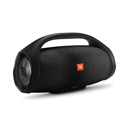 JBL Boombox in Schwarz – Wasserdichter Bluetooth-Lautsprecher mit integrierter Powerbank – Bis zu 24 Stunden Musikgenuss mit nur einer Akku-Ladung – Kabelloses...