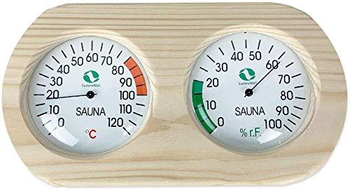 Sudorewell Sauna Messstation Klimamesser mit Thermometer +...