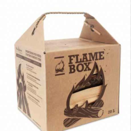 JSM Flamebox Grillholz BBQ Set ofenfertig, Scheitlänge ca. 25 cm - für Kamin, Ofen, Feuerschalen, Lagerfeuer - Kaminholz Feuerholz Grillholz (Birke)