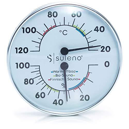 SULENO Sauna Klimamesser 2in1 Thermometer Hygrometer...