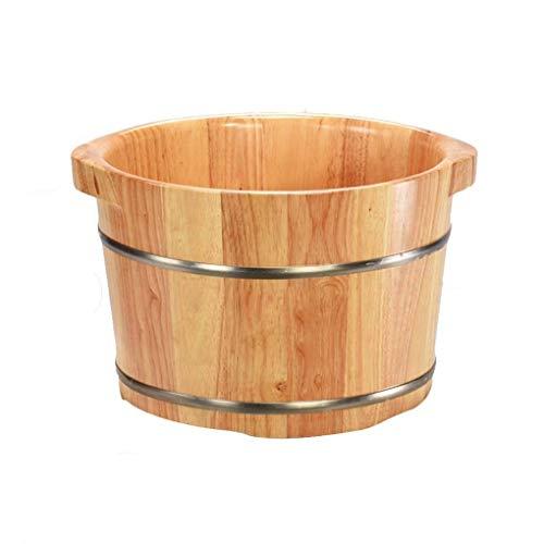 GAXQFEI Eimer Für Fußbad,Saunazubehör Saunaeimer Wassereimer,Handgefertigte Fußbadewannen Aus Holz,Fuß Relaxing Barrel,26Cm