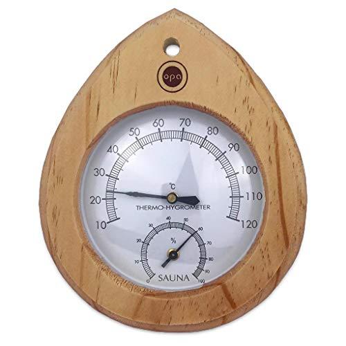 Sauna Klimamesser Tropfen - Finnisches Sauna Thermometer +...