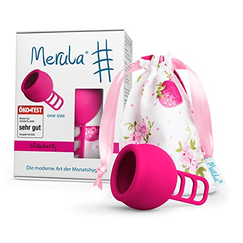 Merula Cup strawberry (pink) - One size Menstruationstasse...
