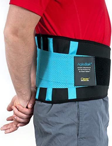 Clever Yellow Rückenstütze, Rückengurt für den Lendenbereich, Bandage für Schmerzlinderung, Verletzungsprävention, Rückenstabilisation, perfekte Anpassung, AgileBak