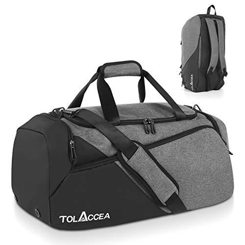 Tolaccea 47L Sporttasche Groß Sporttasche Rucksack mit Schuhfach Nassfach Wochen Reisetasche Duffel Bag Fitness Trainingstasche für Herren Damen...