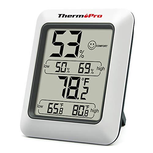 ThermoPro TP50 digitales Thermo-Hygrometer Innen Thermometer Hygrometer Temperatur und Luftfeuchtigkeitsmesser...