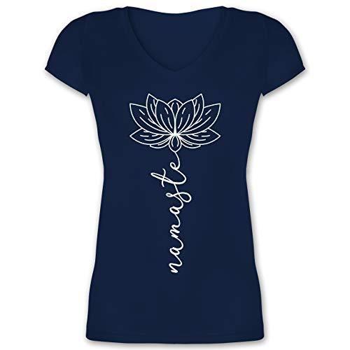 Yoga und Wellness Geschenk - Namaste Lotusblüte weiß - L -...