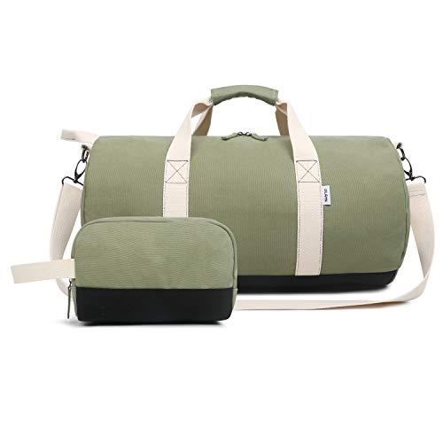 Oflamn Kleine Reisetasche für Männer und Damen - Sporttasche Segeltuch Trainingstasche - Travel Duffel Bag &...