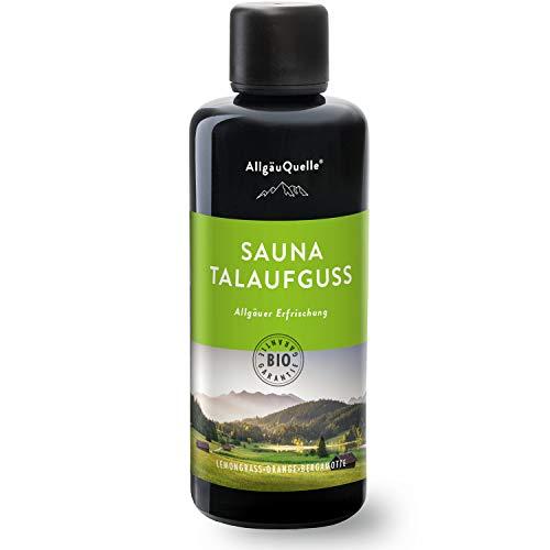 AllgäuQuelle Saunaaufguss mit 100% BIO-Öle Erfrischung Lemongrass Orange Bergamotte (100ml). Natürlicher Sauna-aufguss m. ätherische Sauna-Öle im Aufguss-Mittel. Saunaöl...