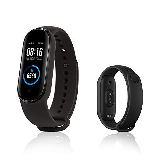 Xiaomi Mi Band 5 Smart-Armband, Aktivitäts-Tracker, Fitness-Tracker, 2,7 cm (1,1 Zoll), dynamisches Farbdisplay, Schwarz (Globale Version)