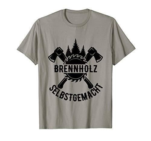 Brennholz Selbstgemacht Homemade Feuerholz Geschenk T-Shirt