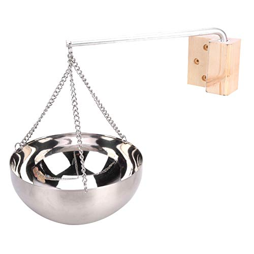Niiyen Sauna Aromatherapie-Schüssel, 20 cm Sauna Aromatherapie-Schüssel aus rostfreiem Stahl Halter für ätherische Öle, Duftdiffusor für ätherische Öle für...