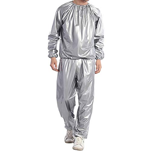 Ahagut Gewichtsverlust Suit Sauna Suit Trainingsanzug Sportanzug Damen Saunaanzüge Schwitzanzug Abnehmen Anti Rip Fitness Trainingsjacke(2XL)