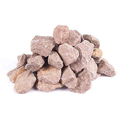 Saunasteine norwegisch Granit ca. 20-40mm rot 15Kg alle Öfen Aufguss