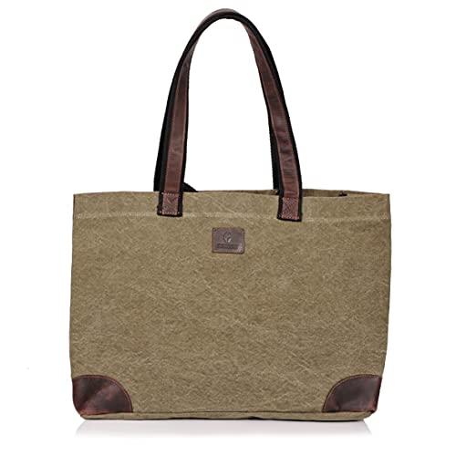 DONBOLSO® Athen Shopper I Einkaufstasche aus Canvas mit...