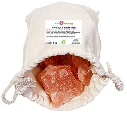 SudoreWell® Solebrocken Salzbrocken rosa Steinsalz aus der...