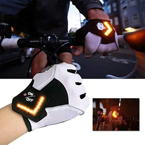 NBRR Fahrrad-Handschuhe, LED-Blinker, automatische...