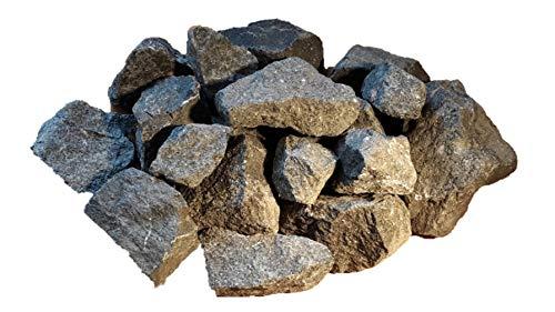Der Naturstein Garten 10 kg Deutsche Aufguss Saunasteine Basalt 8-15 cm - Sauna Steine - Lieferung KOSTENLOS