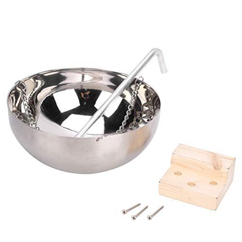 Fdit 20cm Edelstahl Sauna Aromatherapie Schüssel ätherische Ölhalter Sauna Zubehör Raumzubehör