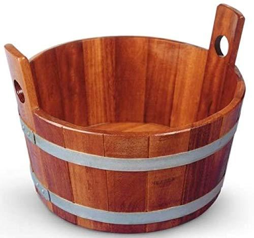 SudoreWell® Sauna Fußwanne aus Kambalaholz mit transparenter Hygieneversiegelung