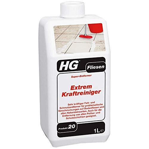 HG HG Fliesen Extrem-Kraftreiniger (Super-Entferner) 1L - Professionelle und Leistungsstarke Fliesenreiniger - Fett und Schmutzentferner