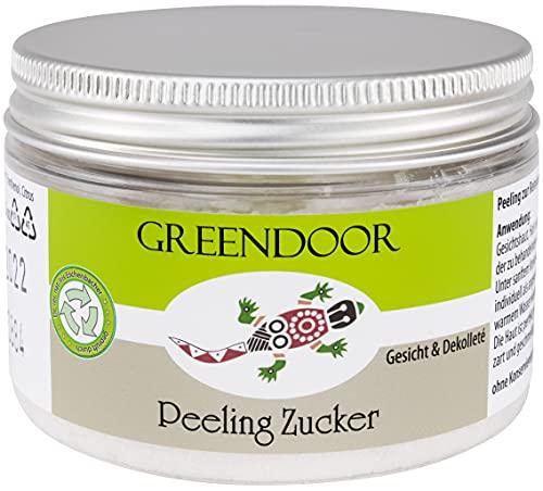 100g GREENDOOR Peeling Zucker, Natur Gesichtspeeling vegan...