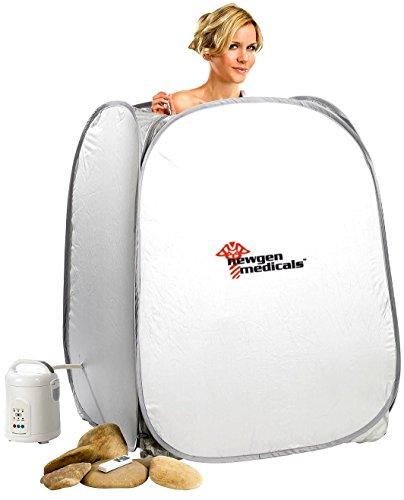 newgen medicals Dampfsauna: 2in1-Heim-Dampfbad und Sauna, portabel, 1.000-Watt-Generator & Timer (Aufblasbare Sauna)