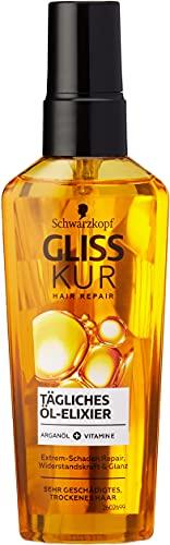 Gliss Kur Schwarzkopf tägliches Öl Elixier Haarpflege mit Arganöl, 1er Pack (1 x 75ml)