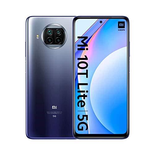 "Xiaomi Mi 10T Lite - Smartphone 6+128GB, 6,67"" FHD+ DotDisplay, Snapdragon 750G, 64MP AI Quad Camera, 4820mAh, Alexa Hands-Free, Atlantic Blue (Official Version + 2 Jahre..."