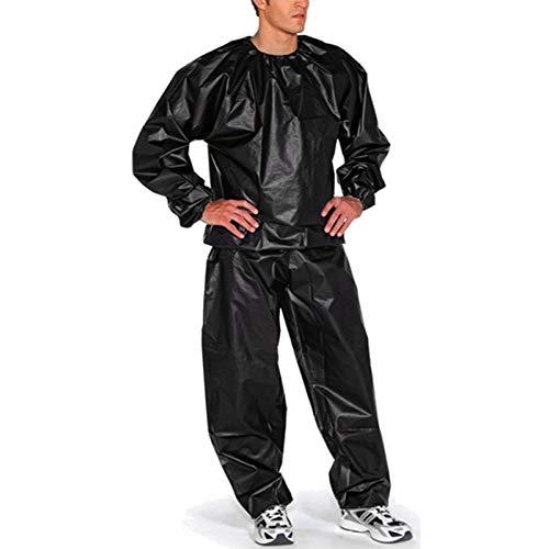 KUYG Sauna Suit Trainingsanzug Sportanzug Männer Saunaanzüge Schwitzanzug Abnehmen Anti Rip Fitness Trainingsjacke
