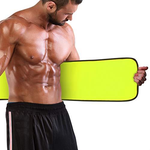 Magicfun Bauchweggürtel Bauchgürtel, Schwitzgürtel, Hot Sauna Belt, Bauch Fett Weg Gürtel, Bauchgurt für Damen und Männer Zum Schwitzen und Abnehmen mit Tragetasche