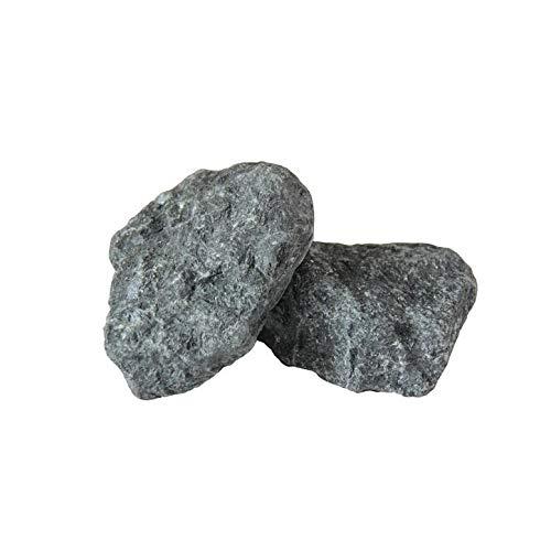 20 kg Gabbro Diabas Saunasteine 5-10cm Aufgusssteine Dampfsteine Ofensteine