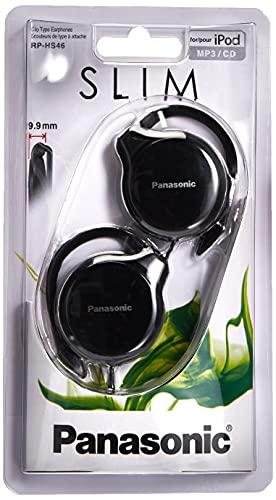 Panasonic RP-HS46-K Clip In-Ear-Kopfhörer (besonders flach, leicht und angenehm zu tragen) schwarz