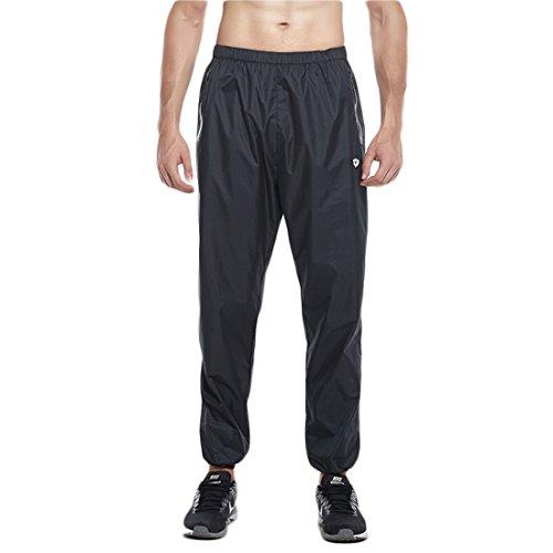 GWELL Herren Saunaanzug Schwitzanzug Gewichtsverlust Fitness Gym Boxing Trainingsanzug (Hose nur) XL