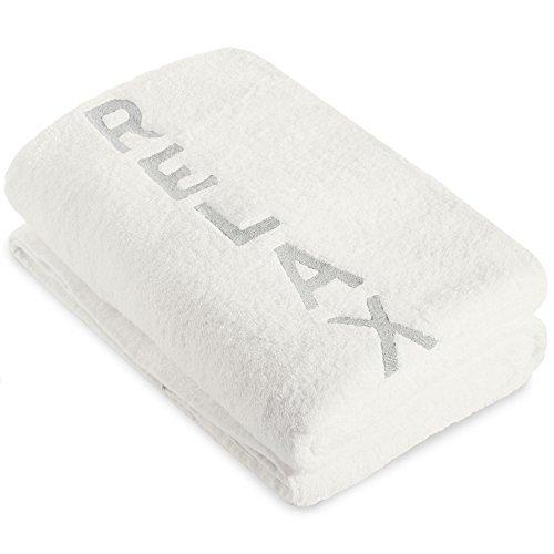 CelinaTex New-Well Saunatuch 80 x 200 cm weiß Baumwolle Saunahandtuch Frotteehandtuch Duschhandtuch