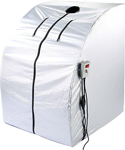 newgen medicals Mini Infrarotkabine: Portable Infrarot-Sauna V2 mit 2 Heizern, 1600 Watt (Mobile Infrarot Sauna)