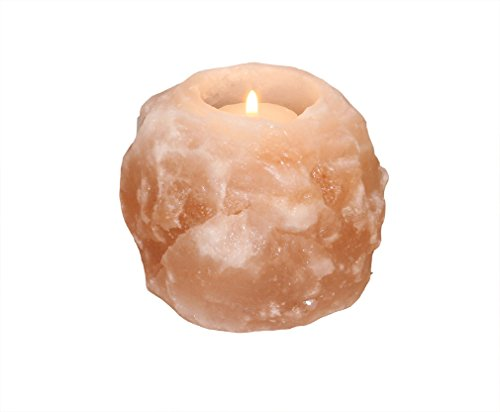 HIMALAYA SALT DREAMS Teelichthalter Rock, grob, Kristallsalz...