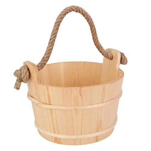 Saunaeimer,Sauna Holzeimer,6L Saunaeimer Fass Holz Sauna Zubehör für Spa Dusche Zubehör Badezimmer