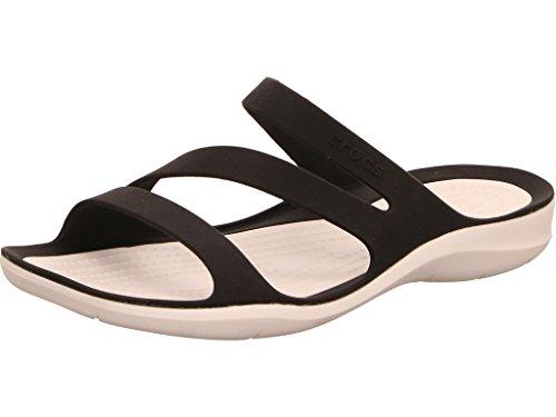 Crocs Damen-Sandale Swiftwater, flach Gr. 8 B(Medium) UK, Schwarz