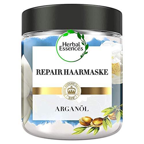 Herbal Essences PURE:renew Marokkanisches Arganöl Repair Haarmaske, 250 ml, Haarpflege Arganöl, Argan Hair Mask, Haarkur Arganöl, Haarpflege Glanz, Haarpflege Trockenes...