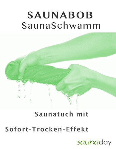 SAUNABOB - das neuartige Saunatuch mit Sofort-Trocken-Effekt **WELTNEUHEIT** (grün)