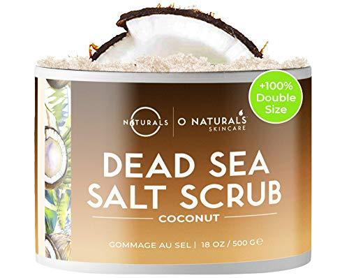 Körperpeeling Salt Body Scrub Peeling Gesicht Peeling Körper Gegen Cellulite Coconut mit Vanilla Feuchtigkeitsspendend Eingewachsene Haare Körner Totes Meer Salz Dead Skin...