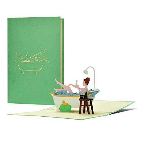 Wellness Gutschein|3D Pop-Up Geburtstagskarte|Geschenkidee...