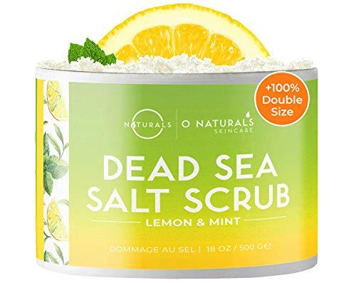 Körperpeeling Salt Body Scrub Peeling Gesicht Peeling Körper Zitrone Peeling Salz Dead Sea Salt Meersalz Scrub Gegen Fettige Hautreiniger Eingewachsene Haare Körner Akne...