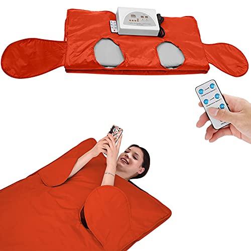 YJF-MRY Infrarot-Saunadecke, Khan Steam Blanket 2-Zonen-Heizungs-Sauna-Schlankheitsdecke Zur Gewichtsreduktion Body Shaper, Lassen Sie Die Hand Ausstrecken