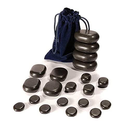 WellTouch Hot Stone Massage Set   20 Basalt Massagesteine ...