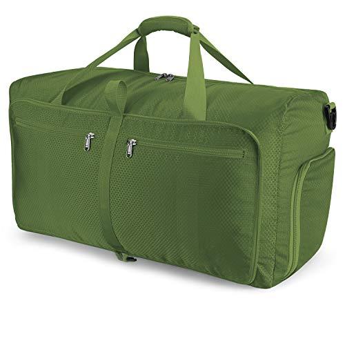 Orangeck Leichter Faltbare Reise-Gepäck mit Großer Kapazität, 60L Reisetasche Übernachtung Taschen Sporttasche für Männer und Frauen Weekender Faltbar Duffel Bag mit...